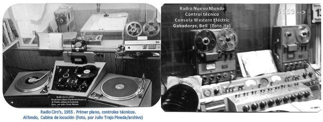 Controles técnicosy cabina de locución en Radio Ciro's y Radio Nuevo Mundo de Guatemala(Fotos, jtp)