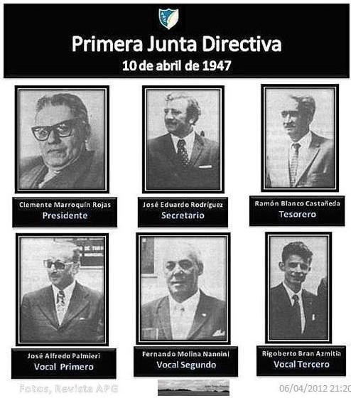 Primera Junta Directiva de la APG -en 1947