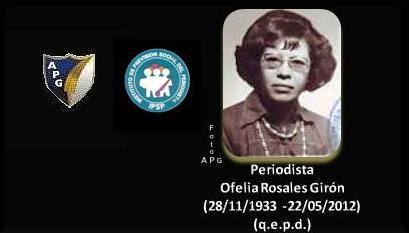 Periodista, Ofelia F. Rosales Girón +22052012