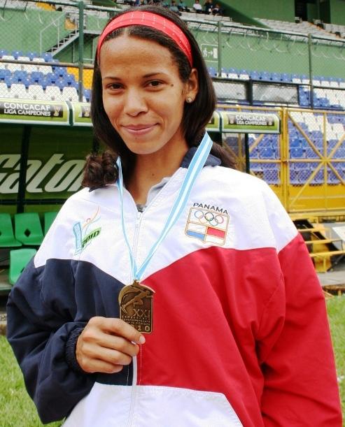 Andrea Ferris, de Panamá (Foto, por el periodista Fredy Godoy, de Guatemala).