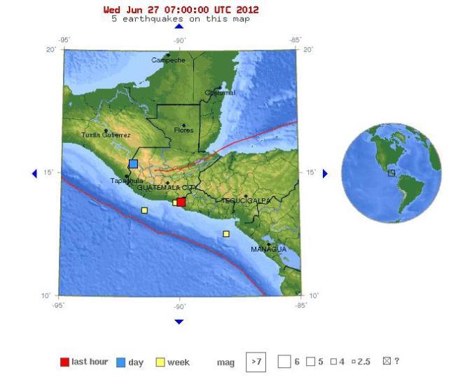 Sismo en El Salvador 27062012  magitud 5.7 USGS