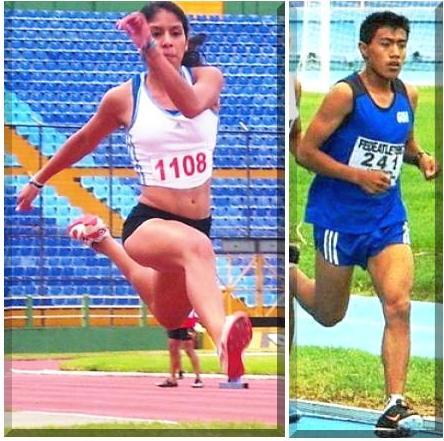 Estéfany Cruz y Edwin Pirir , Guatemala -atletas-