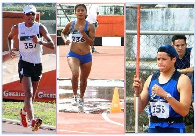 Mario Bran 20mm, oro, Evonne 3mob plata, Luis Taracena, jabalina, oro,en Managua ca 2012 junio 15-17-