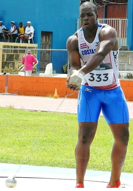 Roberto Sawyers, Costa Rica -Nuevo record centroamericano lanzamiento de martillo, Managua -junio 17 2012-