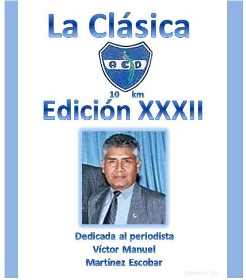 Periodista Víctor Manuel Martínez Escobar, miembro de la ACD - 29082012 Le dedican la Clásica ACD 2012 -