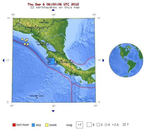 Costa Rica -al NE 7.6 05092012 22.55 P.M.