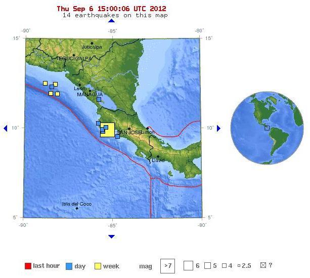 Tiembla de madrugada en El Salvador y Nicaragua 06092012