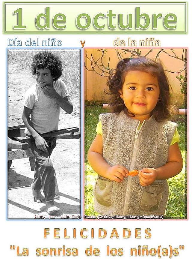 Día del Niño y de la Niña- 1 de octbre -niños de Guatemala.