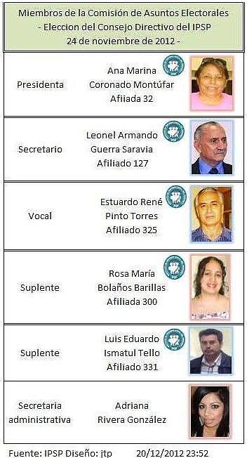 Comisión de Asuntos Electorales 2012. IPSP