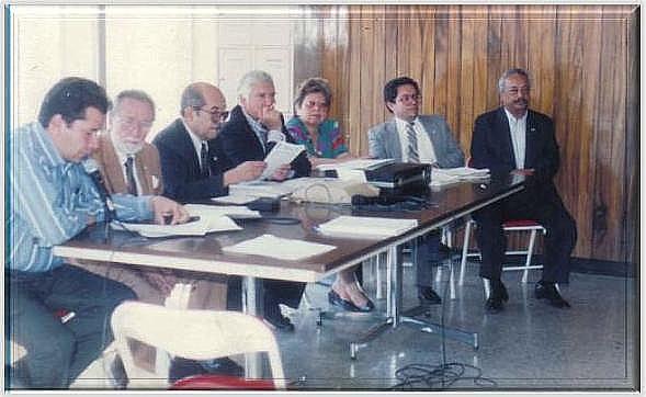 Primer Consejo Directivo del IPSP electo por la Asamblea general (JESALMEN).