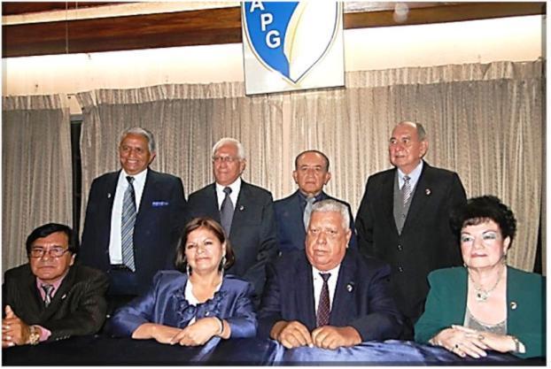 Junta Directiva 2013 de la APG .