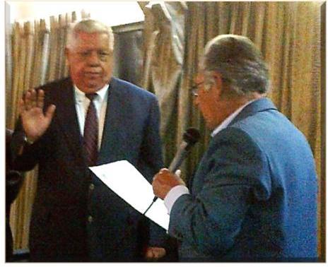 José Miguel Álvarez Cruz juramentado por Miguel Ángel Albizures Pedroza