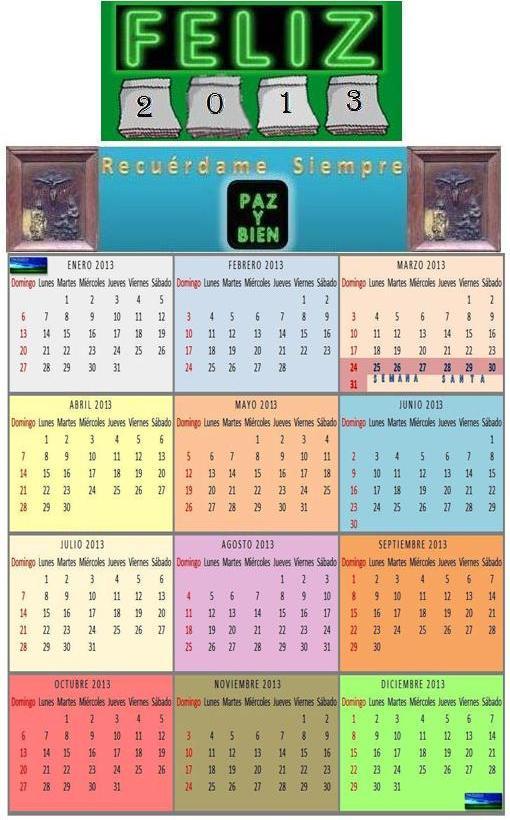 RECUERDAME SIEMPRE-Almanaque 2013 Notas Periodísticas