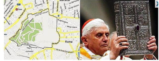 Ciudad del Vatcano (Google maps) Benedicto XVI (Getty Images).