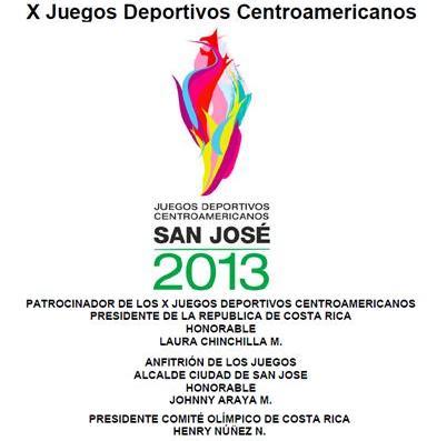 X Juegos Deportivos Centroameicnois, 2013 SanJosé, Costa Rica.
