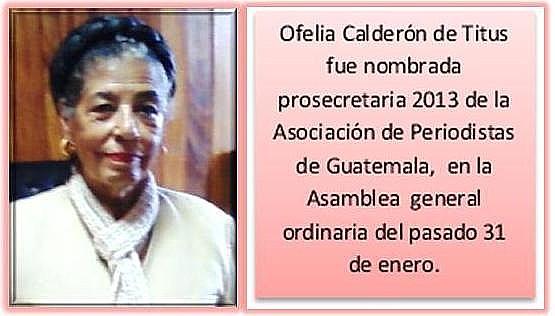 Ofelia Calderón de Titus 31012013pmjtp