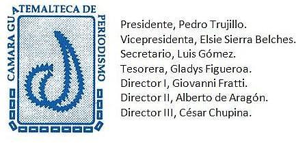 Cámara Guatemalteca de Periodismo, Junta Direcxtiva  2013-2014