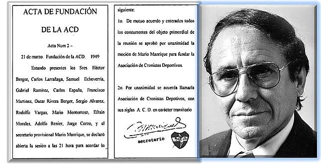 """Acta de Fundación de la  ACD -  - Mario """"Samy"""" Monterroso Miron (Foto: ACD, galería de presidentes)"""