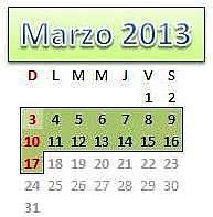 marzo mes 2013