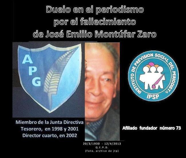 Falece José Emilio Montúfar Zaro u--12042013+ afiliado 73