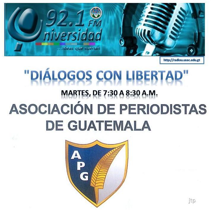 Diálogos con  Libertad- logo v-radio Universidad 92.1 FM. 7.30 a 8.30 A.M. cada martes -jtp