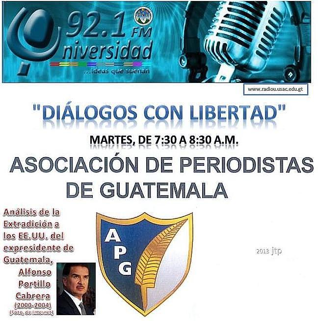 Diálogos con Libertad- logo u-radio Universidad 92.1 FM. 7.30 a 8.30 A.M. martes 28-mayo  -jtp