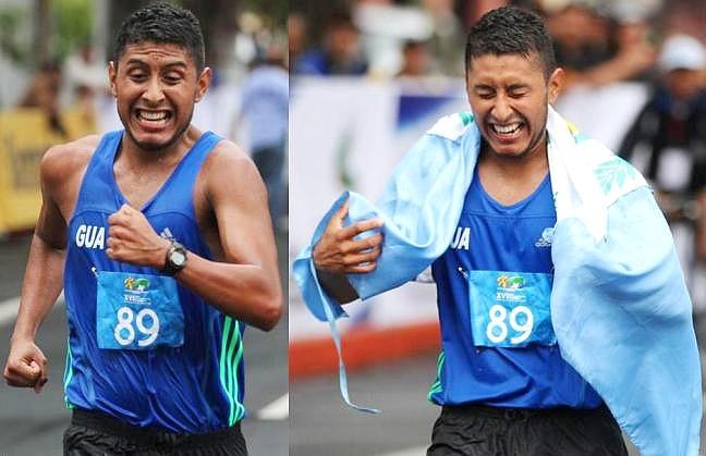 Mario Alfonso Bran Granillo, Guatemala, en 50 km. marcha panamericana 2013 (Fotos: COGuatemalteco).