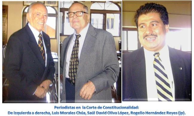 Periodistas: Luis Morales Chúa, Saúl David Oliva López y Rogelio Antonio Hernández Reyes (jtp)