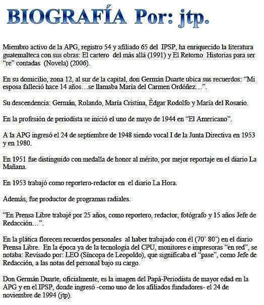 Biografía Germán Duarte Castañeda.+26062013