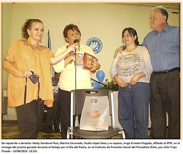 Heidy, Marina, Nydia López y Jorge Ernesto Fingado. 15062013 u -  -en IPSP