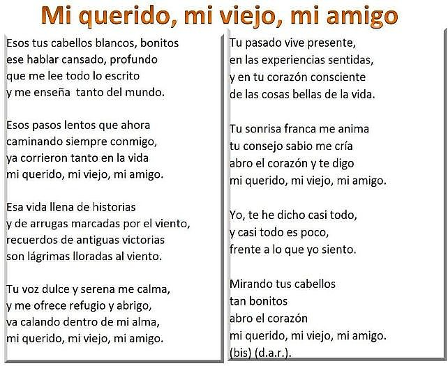 Poema -Mi querido, mi viejo, mi amigo -d.a.r..