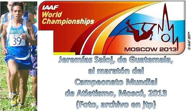 Jeremías Saloj -Guatemala- atletismo maratón Moscú 2013.