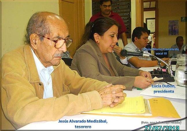 Jesús Alvarado M -Lucía Dubón - Jesús Alfonso Castañeda. jtp. 27 jul 2013.