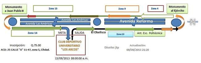 Recorrido XXXIII cláaica - -  ACD 2013