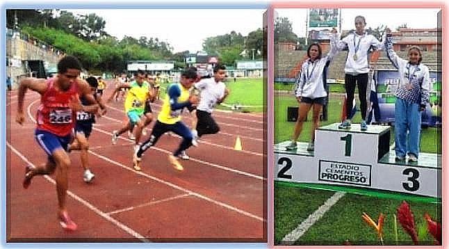 Salida de ls 800 metros planos y premiación de 400 metros con vallas (Fotos, por jtp)
