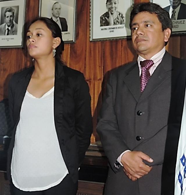 Nailea Arisaí Maldonado Sánchez y Ruddy Miguel Girón López (bctm).