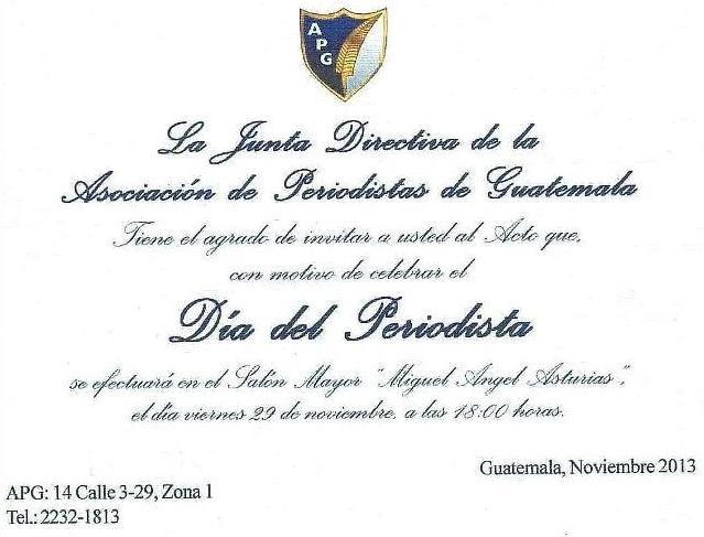 APG -INVITACION DIA DEL PERIODISTA