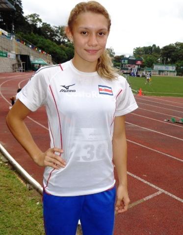 Andrea Vargas, de Costa Rica (Foto, por Julio Trejo Pineda).