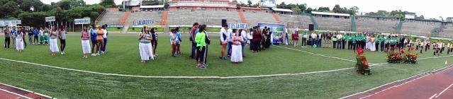 Panorámca de la inauguración 1del Torneo (Foto, por Julio Trejo PIneda).