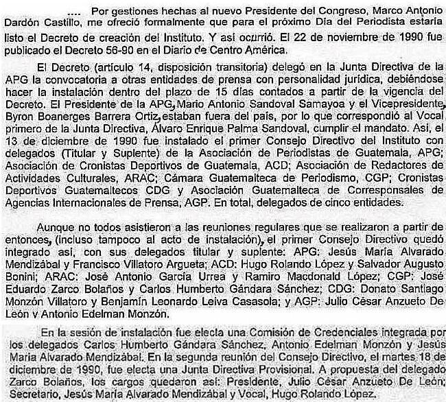Instauración del primer Consejo Directivo del IPSP