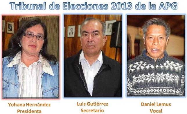 Tribunal de eleccines 2013 integrantes  --u-- 3 - fotos. jtp