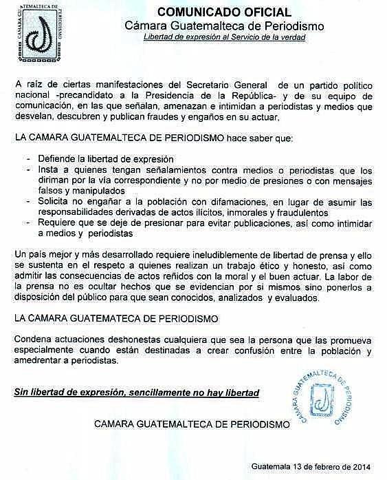 CGP Comunicado del 13 feb 2014