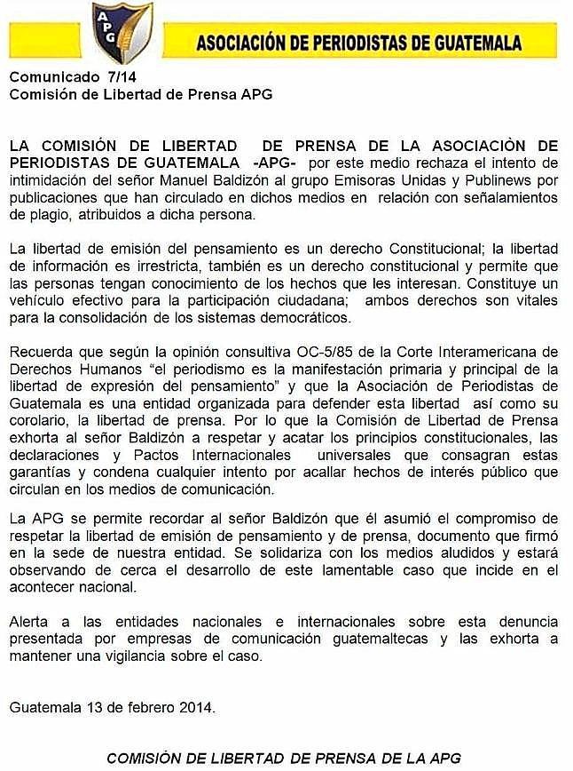 APG -CLP -Comunicado 7/14
