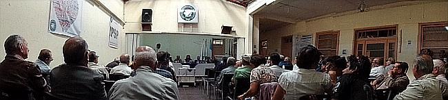 Abundante presencia de afiliados, hoy, en la Asamblea general del IPSP (Panorámica especial, por jtp -29032014)