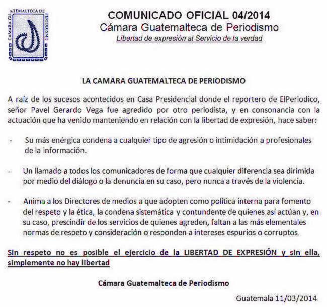 GP - Caso periodistas casa presidencial