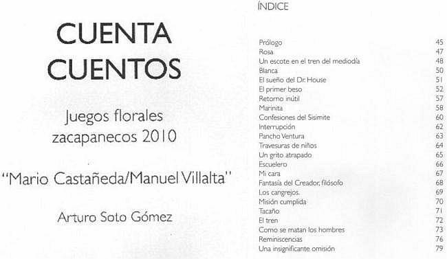 NOSOTROS - libro de Arturo Soto Gómez -contenido