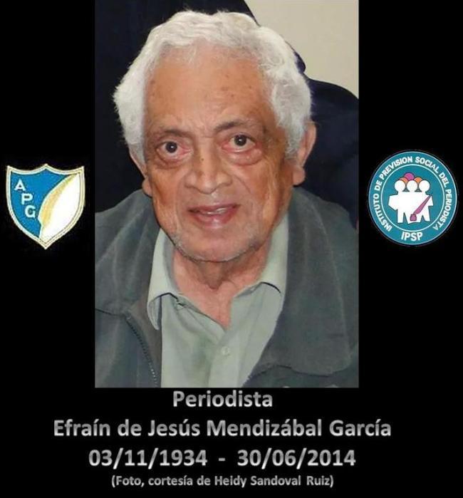Efraín de Jessús Mendizábal García  ---U--  deceso foto.--HEISAN
