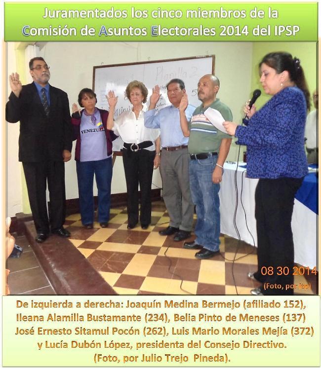 IPSP -u -.LOS  -cae-5 JURAMENTADS EN EL IPSP.  ---jepg