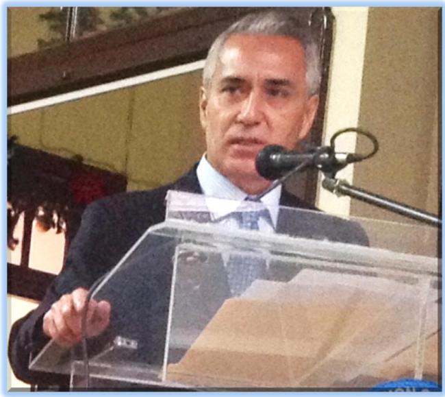 Estuardo Pinto en su discurso  -jtp