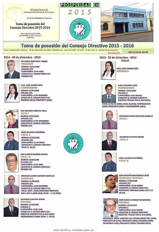 TOMA DE - - - POOSESIÓN C D DEL IPSP PERÍODO 2014 -30 NN - 2016